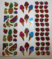 Hambly stickers 1 sheet - Food Dessert  Fruit You Choose!