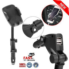Dual USB Car Charger Holder Mount With Cigarette Lighter Chargers for Samsung S6