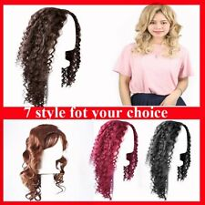 Womens short Long Wavy Curly Hair Synthetic Cosplay Full Wig Wigs Party P5