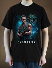 PREDATOR Movie Poster ver. 2 Arnold Schwarzenegger T-Shirt (Black) S-5XL