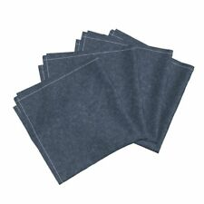 Linen Texture Fabric Navy Solid Cotton Dinner Napkins by Roostery Set of 4