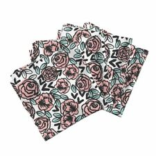 Roses Rose Pink Floral Pink Roses Cotton Dinner Napkins by Roostery Set of 4