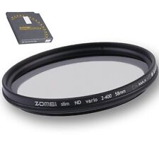 ZOMEI 58/77mm Neutral Density Fader Adjustable Variable ND Filter ND2,ND4-400 FU
