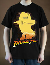 INDIANA JONES Logo ver. 1 Movie Poster Harrison Ford T-Shirt (Black) S-5XL