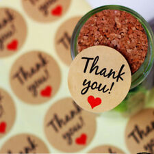 "120X/pack ""Thank You"" Self Adhesive Kraft Paper Stickers Hand Made Baking Decor"