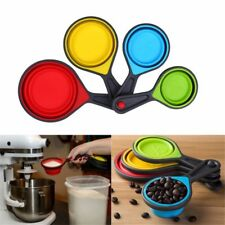 4pcs Silicone Measuring Spoon Cups Set Ice Cream Baking Cook Kitchen Measuring