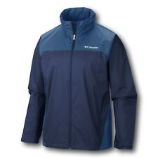 New Columbia mens Raincreek Falls waterproof stow hood rain jacket coat Blue