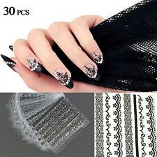30pcs 3D Nail Art Manicure Tips Stickers Decals DIY Flower Design Decoration GA
