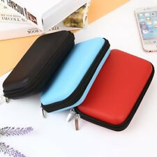 Travel Storage Carrying Zipper Bag Pouch Protector For USB Data Cable Headset