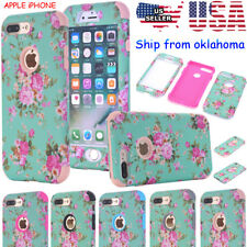 Orchid Hybrid Rubber Hard Protective Case Cover for Apple iPhone 7PLUS 6S
