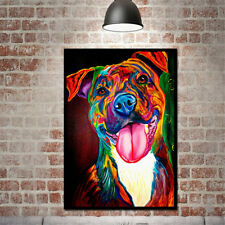 On Canvas Unframed Huge Wall Art Modern Simple Oil Painting Colorful Dog New