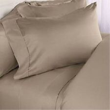 All US Sizes Bedding Items 1000TC Soft Egyptian Cotton Beige Solid
