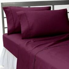 All US Sizes Bedding Items 1000TC Soft Egyptian Cotton Wine Solid