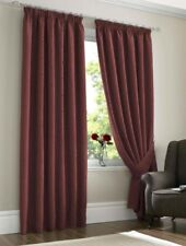 """Piazza Fully Lined Curtains 66 x 72"""" - Wine"""