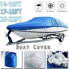 Boat Cover Waterproof Silver Reflective Fits V-HULL TRI-HULL Fishing Boat Y7P6