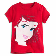 NWT Disney Store Princess Ariel Tee Shirt Girls Portrait SZ 4