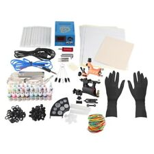 Complete Tattoo Kit Tattoo Power Supply Gun Machines 20 Color Inks Needles Tips