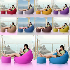 45x25cm Round Bean Bag Cover Footstool Footrest Ottomans Cover Storage Bag