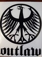 "4""x5"" German Eagle OUTLAW vinyl Decal Bundesadler Sticker Porsche VW BMW"