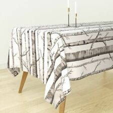 Tablecloth Forest Birch Trees Woods Birch Tree Trees Birch Forest Cotton Sateen