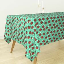 Tablecloth Strawberry Fruit Summer Bright Strawberries Sweet Cotton Sateen
