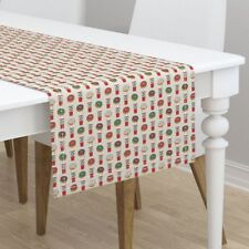 Table Runner Christmas Christmas Colors Donuts Coffee Xmas Holiday Cotton Sateen