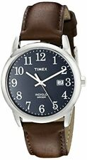 Timex Corporation Mens Easy Reader  Leather Strap- Pick SZ/Color.