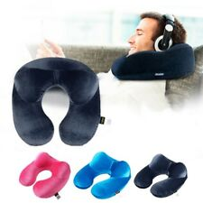 New U Shaped Travel Pillow Car Air Flight Inflatable Pillows Neck Support Soft