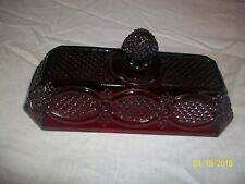 Avon Ruby Red 1876 Cape Cod Collection Butter Dish LID ONLY