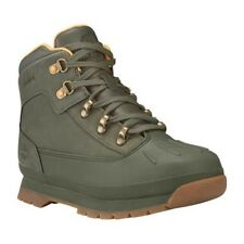 Kids Timberland Boots Euro Hiker Shell Toe Boots Dark Green Olive Boots NEW