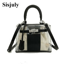 Women Clear Transparent Handbag Women's Patchwork Fashion Shoulder Bag