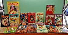 Collection 18 1970's Vintage Annuals Mandy Judy My Guy Blue Jeans Fab 208 Pink