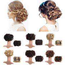 Women Comb Clip In Curly Hair Piece Chignon Hairpiece Extension Hair Bun Hot