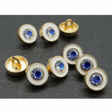 10pcs Round Rhinestone Shirt Shank Buttons Metal Button Coat Sewing Craft 10mm