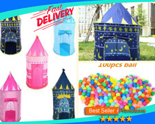 Prince Castle Play House Outdoor Kids Play Tent Boy Multi Color Folding Fancy