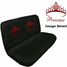 Red Princess w/Crown Crystal Studded Rhinestone Bench Seat Cover