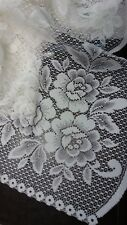Victorian Trading Heritage Lace Victorian Rose 60 x 62 Curtain Panel White 23E