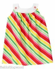 NWT Gymboree Strawberry Sweetheart Striped Dress SZ 3 6 12 18mo, 5T