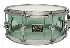 New Spaun Acrylic Vented Snare Drum Coke Bottle Green 13 x 5.5 inch