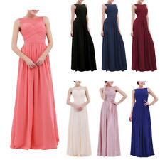 Women Formal Wedding Bridesmaid Long Evening Party Prom Gown Cocktail Maxi Dress
