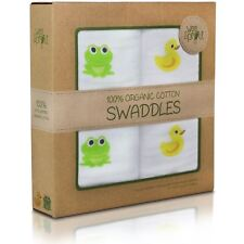 "WEESPROUT 100% ORGANIC COTTON MUSLIN SWADDLE BLANKETS (2 PACK) 47""X47"" SIZE"