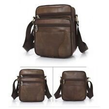Men's Small Leather Cross Body Messenger Bags Satchel Shoulder Bag Briefcases