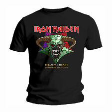 IRON MAIDEN LEGACY OF THE BEAST OFFICIAL TOUR 2018 T-SHIRT ROCK MEN FASHION