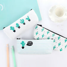 1PC Zipper Pen Pencil Bag School Stationery Storage Case Cosmetic Makeup Pouch