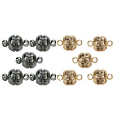 5 Pcs 8mm Round Magnetic Clasps DIY Jewelry Makings for Necklace Bracelets
