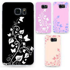 HK- Butterfly Vine Phone Case Thin Cover for Samsung Galaxy S8 S7 Edge Plus Wide