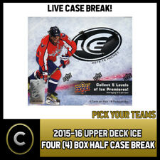 2015-16 UPPER DECK ICE HOCKEY 4 BOX CASE BREAK #H075 - PICK YOUR TEAM -