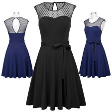 50s style dress sleeveless swing formal a line homecoming vintage retro party