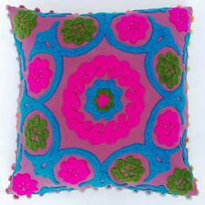 Handmade Decorative Cotton Pillow Cases Suzani Woolen Embroidery Cushion Cover Y