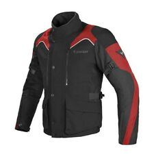 Dainese Tempest D-Dry Black Black Red Motorcycle Jacket- New! Free P&P!
